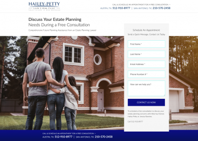 Landing Page – Hailey Petty Law Firm